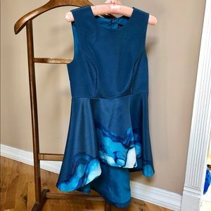 Style stalker blue fit and flare dress Sz S
